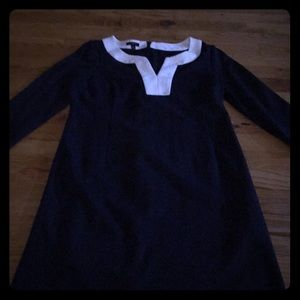 Talbots, Navy Blue, size 4 dress. 3/4 sleeved.
